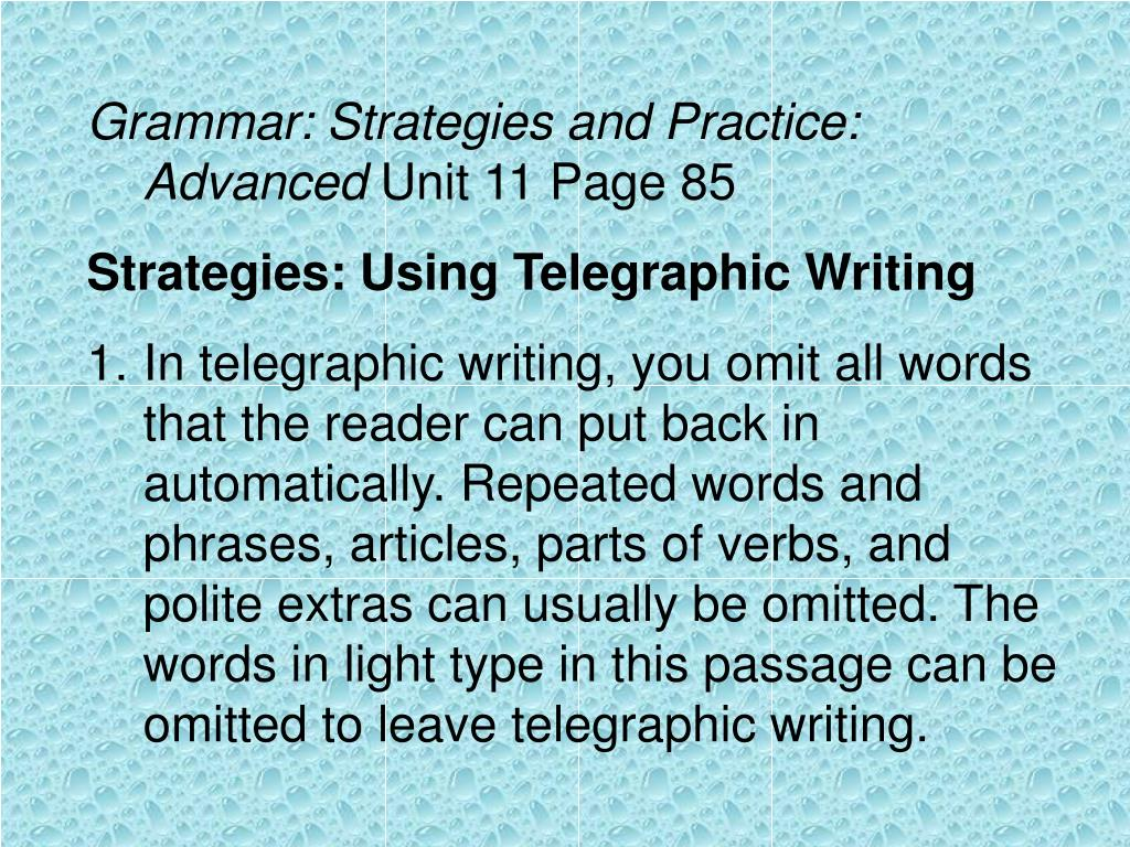 Grammar: Strategies and Practice: Advanced