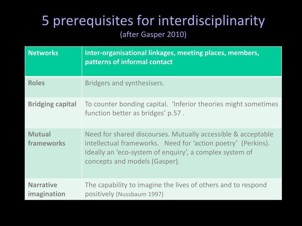 5 prerequisites for