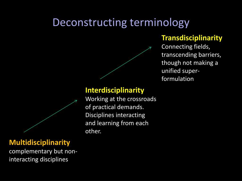 Deconstructing terminology