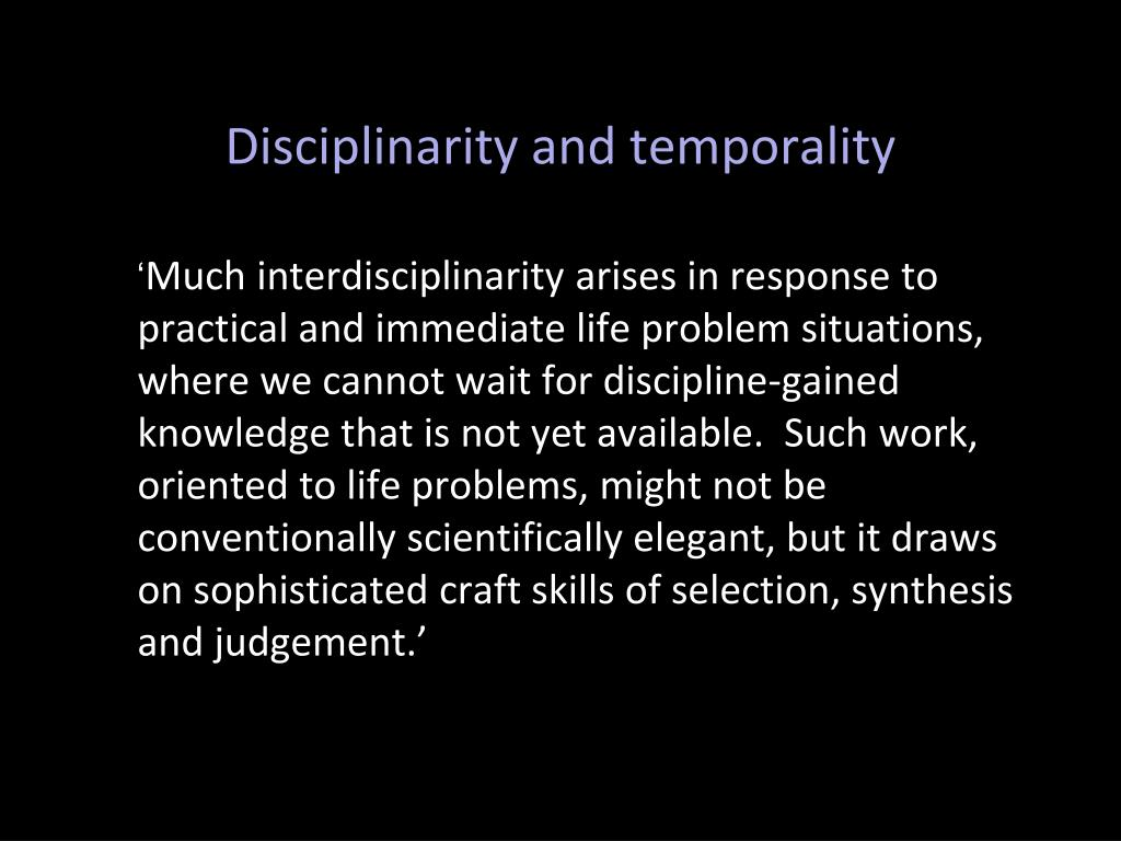 Disciplinarity