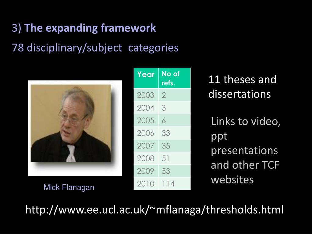 The expanding framework