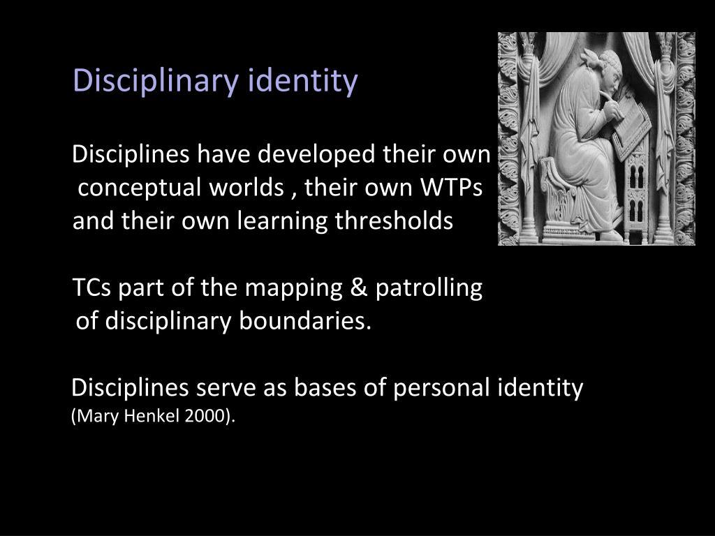 Disciplinary identity