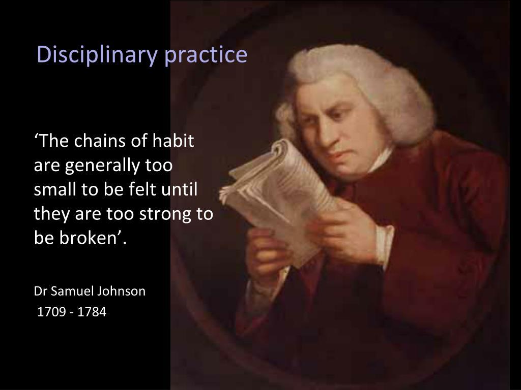 Disciplinary practice