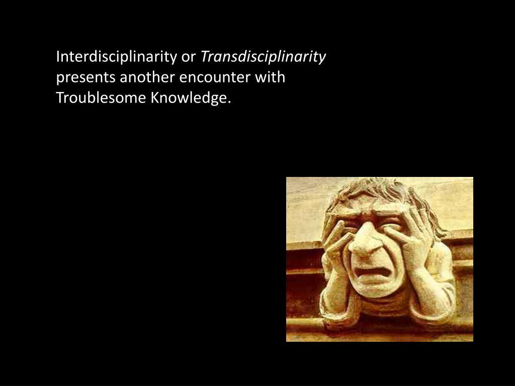 Interdisciplinarity or