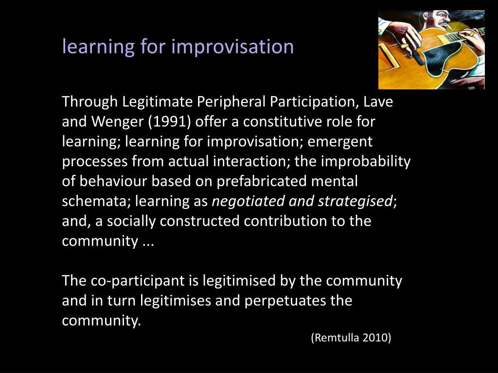learning for improvisation