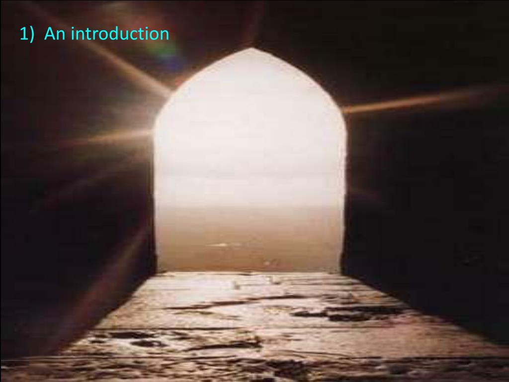 1)  An introduction