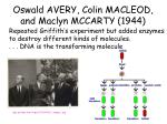 oswald avery colin macleod and maclyn mccarty 1944