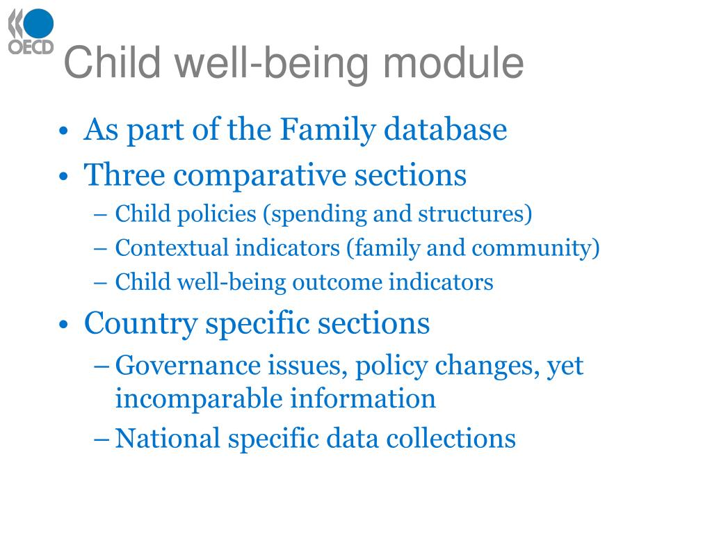 Child well-being module