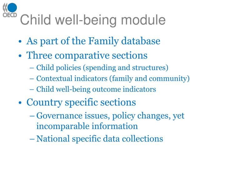 Child well being module