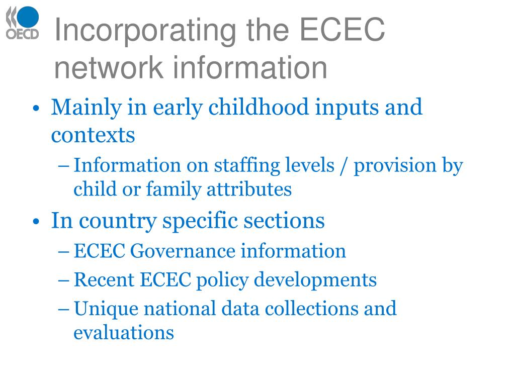 Incorporating the ECEC network information