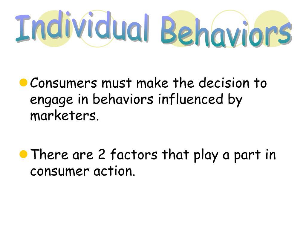 Individual Behaviors