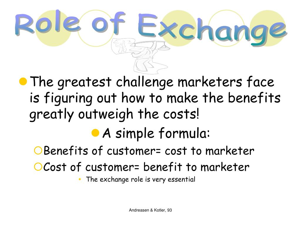 Role of Exchange