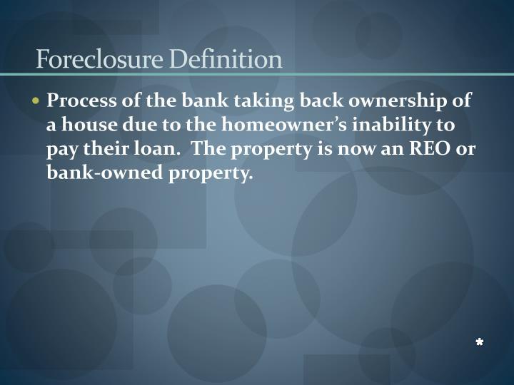 Foreclosure Definition