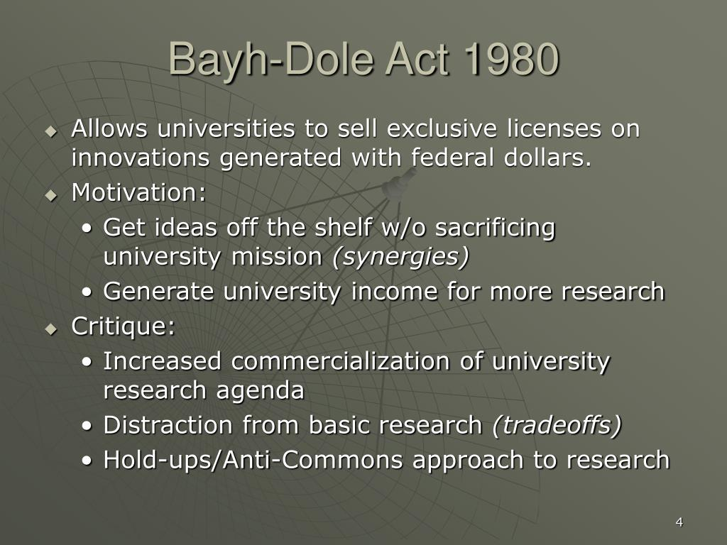 Bayh-Dole Act 1980