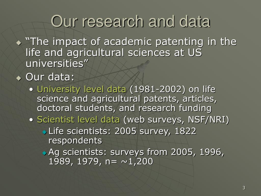 Our research and data