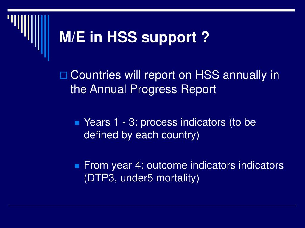 M/E in HSS support ?