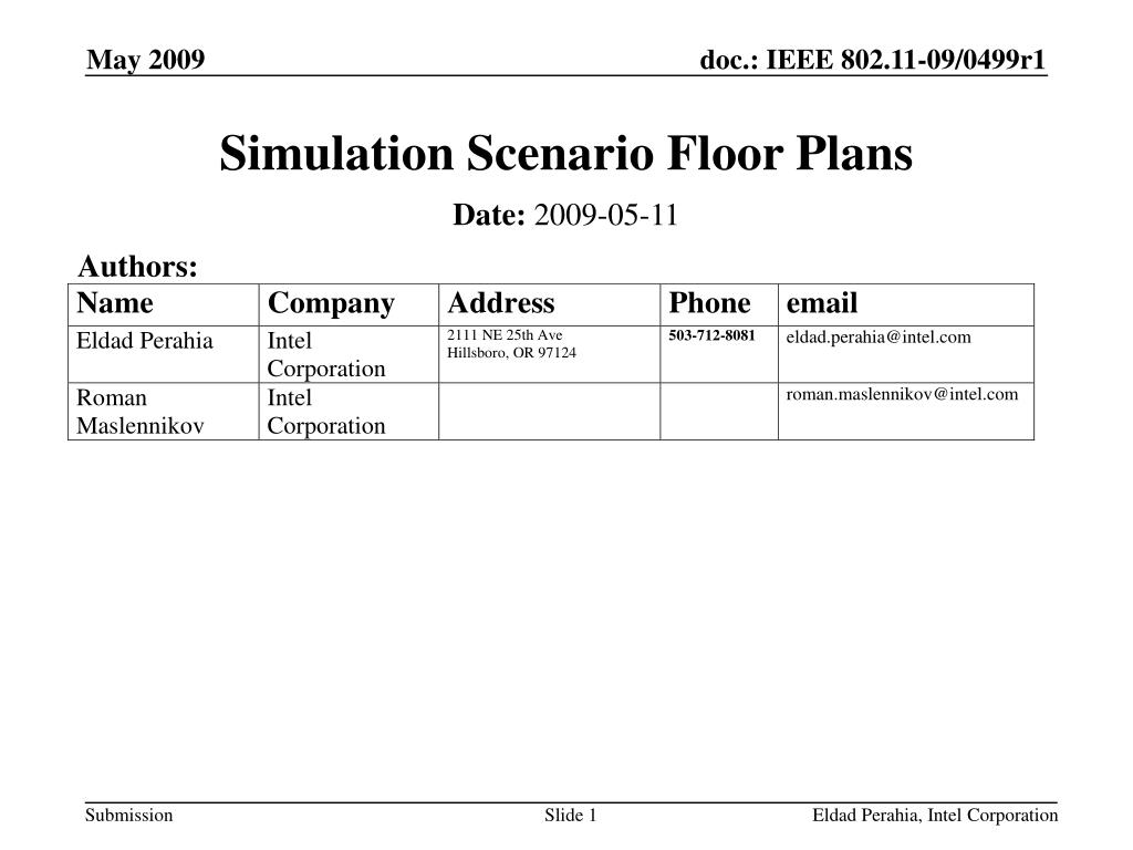 simulation scenario floor plans