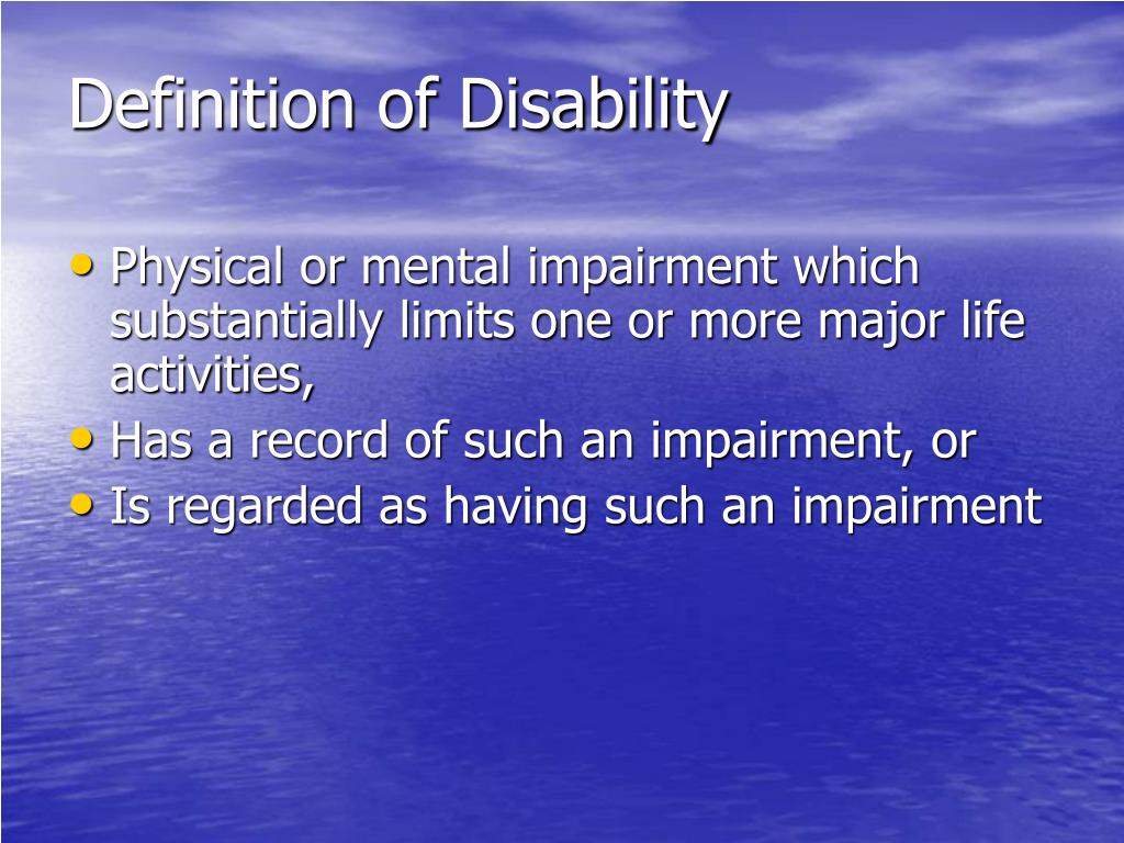 Definition of Disability