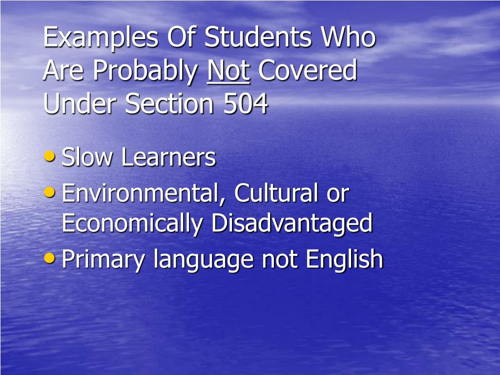 Examples Of Students Who Are Probably