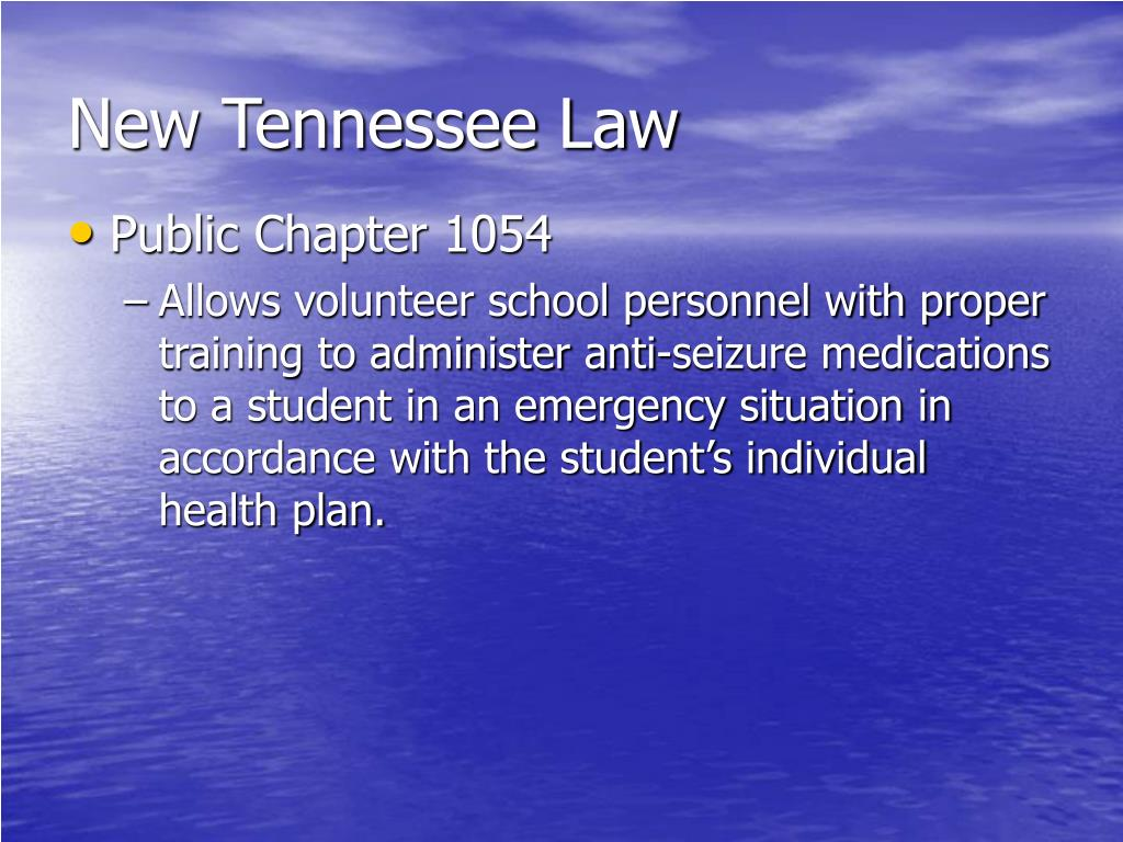 New Tennessee Law