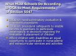 what must schools do according to ocr to meet requirements of section 50421