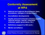 conformity assessment at wp 6