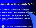 consulation with civil society why
