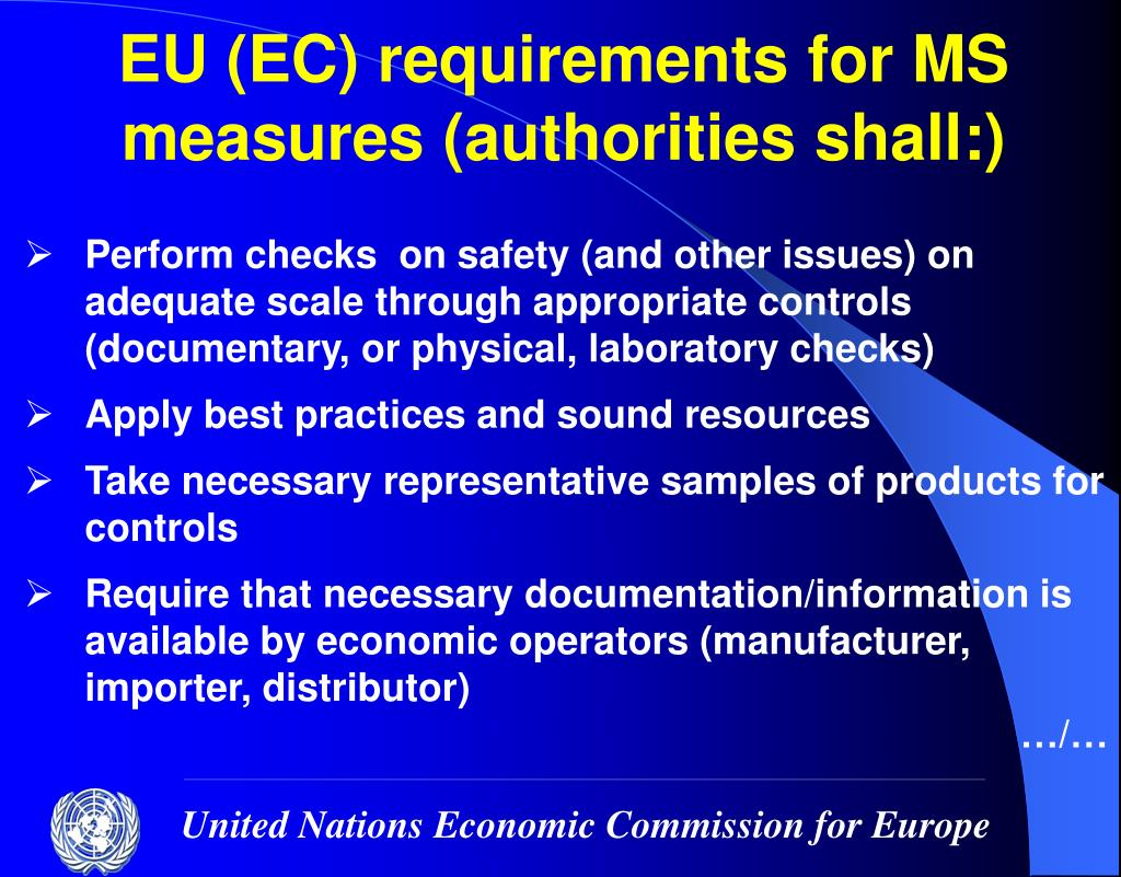 EU (EC) requirements for MS measures (authorities shall:)