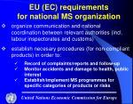 eu ec requirements for national ms organization