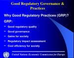good regulatory governance practices