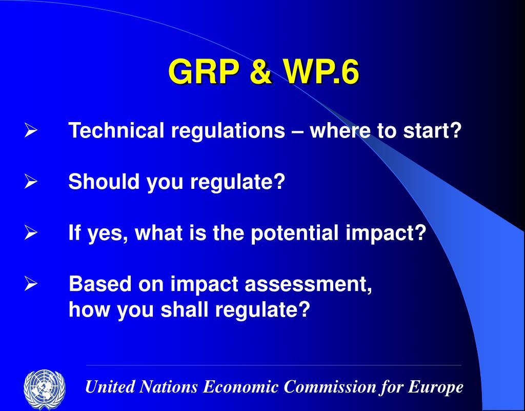 GRP & WP.6