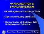 harmonization standardization