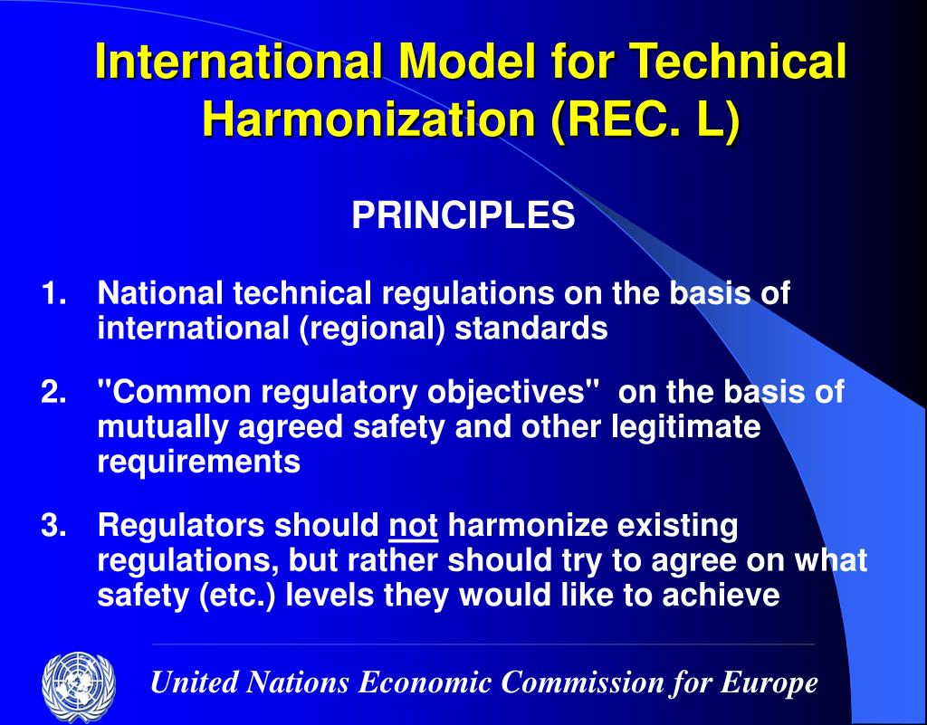 International Model for Technical Harmonization (REC. L)