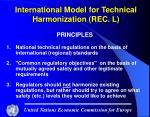 international model for technical harmonization rec l