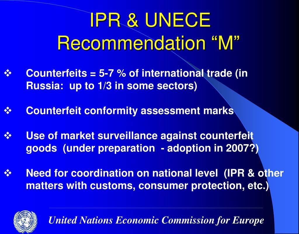 IPR & UNECE