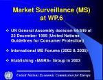 market surveillance ms at wp 6