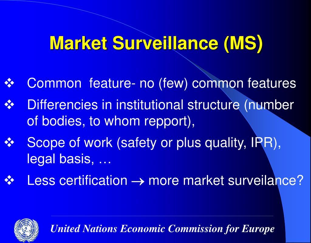 Market Surveillance (MS