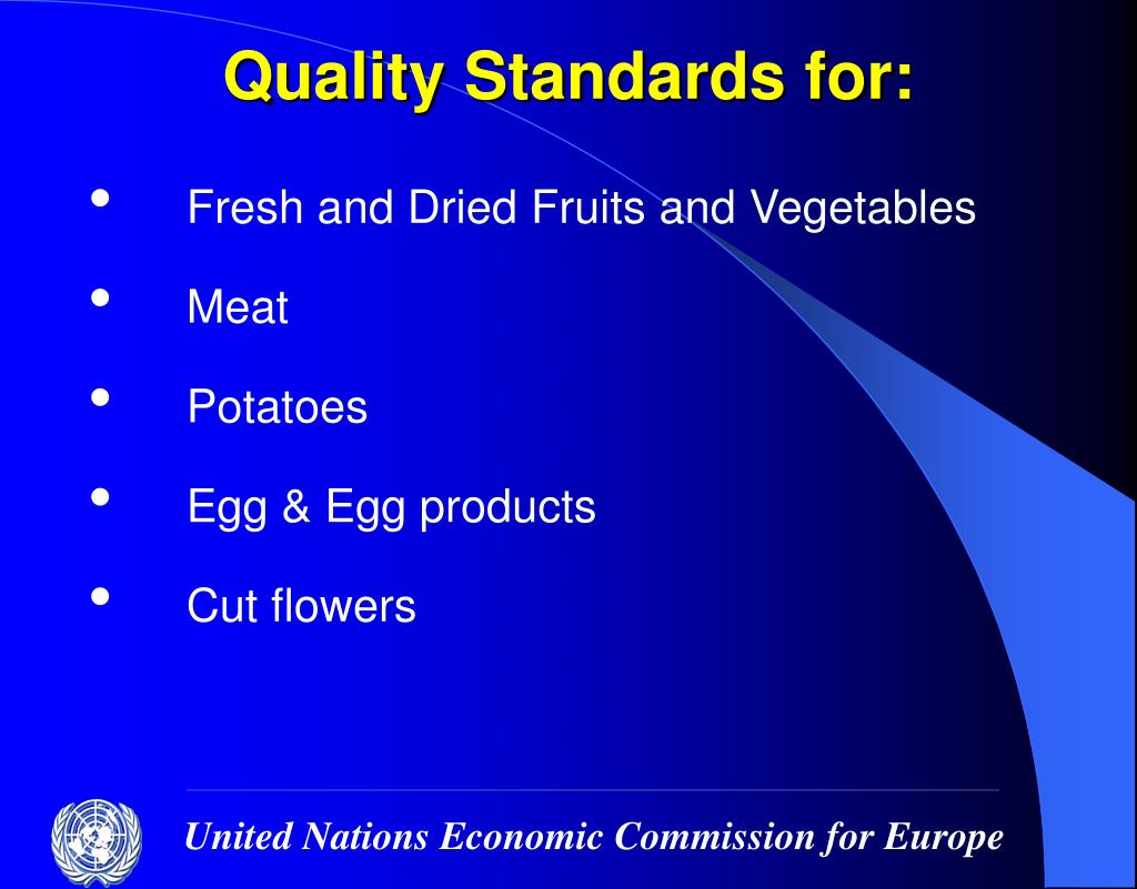 Quality Standards for: