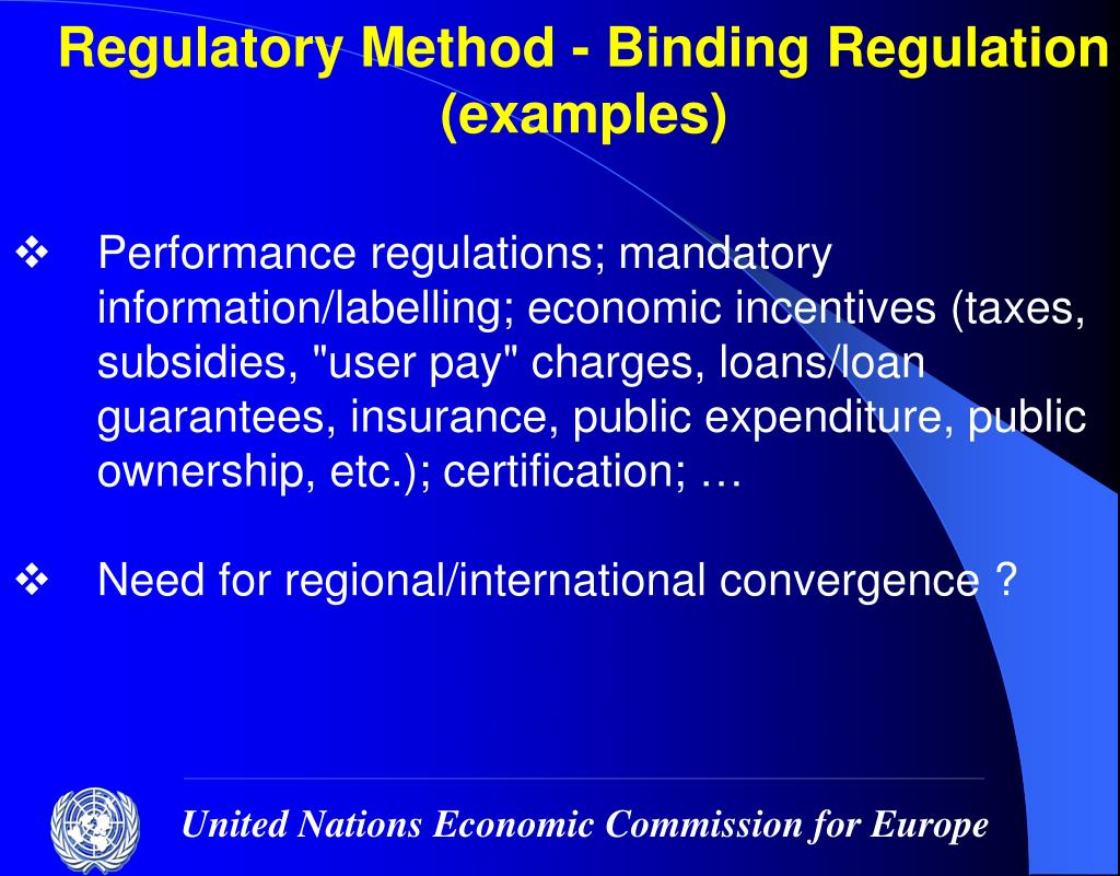 Regulatory Method - Binding Regulation