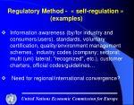 regulatory method self regulation examples