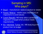 sampling in ms who pays