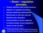 smart regulation provides