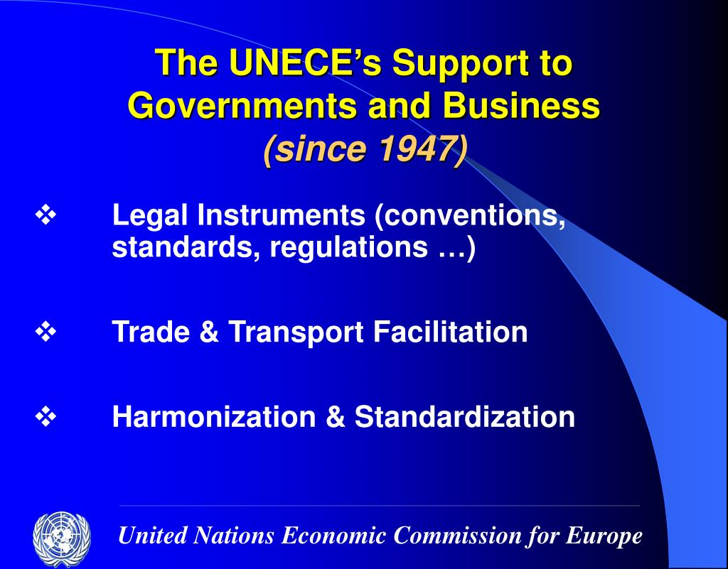 The UNECE's Support to