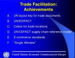 trade facilitation achievements