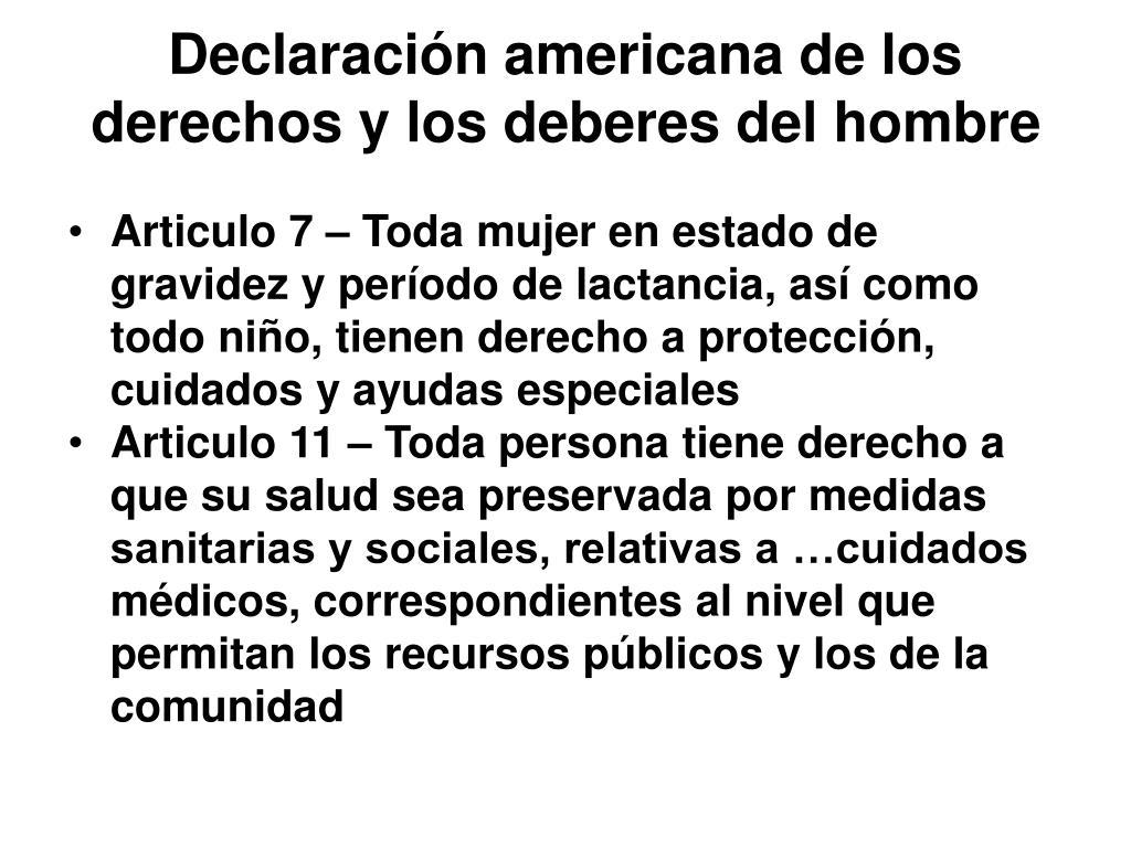 Declaración americana de los derechos y los deberes del hombre