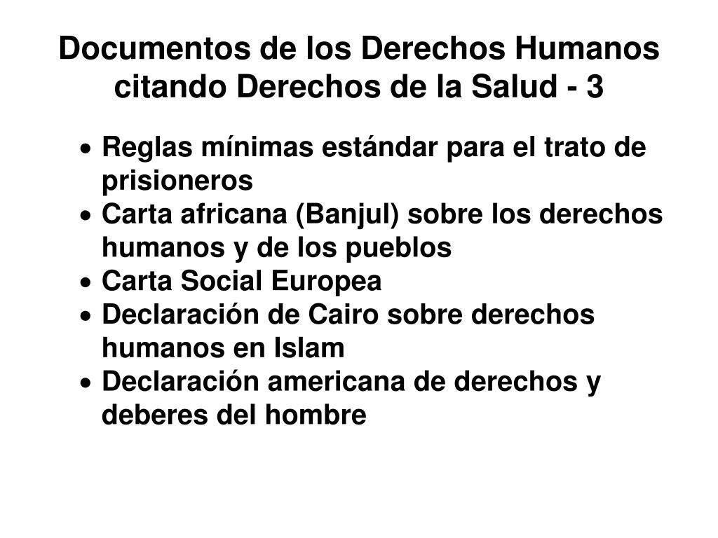 Documentos de los Derechos Humanos