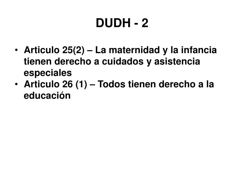 DUDH - 2