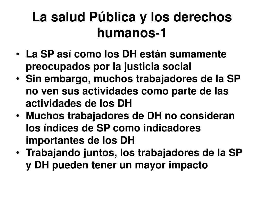 La salud Pública y los derechos humanos-1