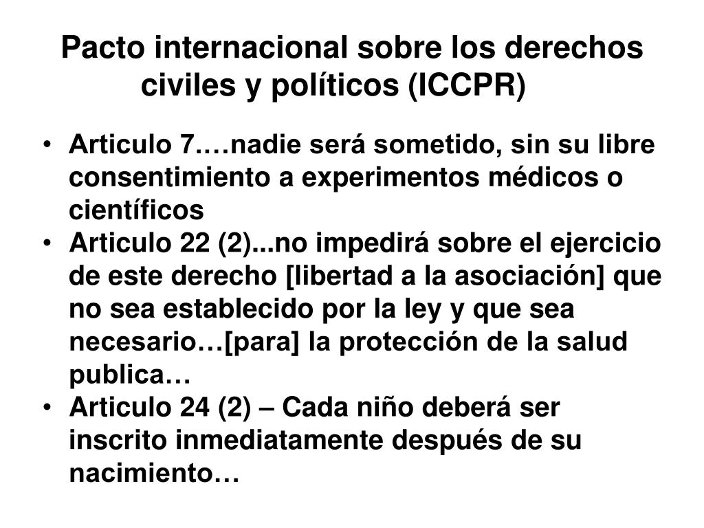 Pacto internacional sobre los derechos civiles y políticos (ICCPR