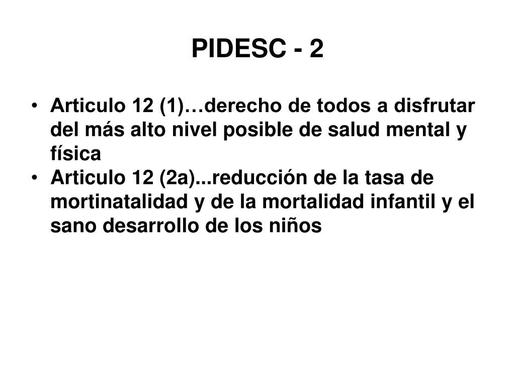 PIDESC - 2